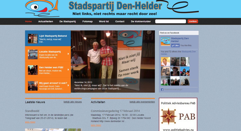 Website front